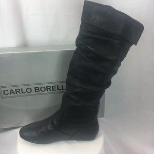 NIB Carlo Borello Steven Knee High  Black Boot